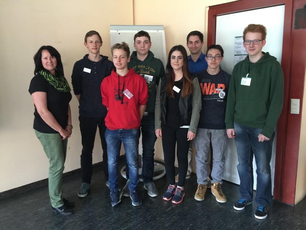 Beim ehrenamtlichen Marketingworkshop für die Schülerfirma der Walter-Erbe-Realschule Tübingen
